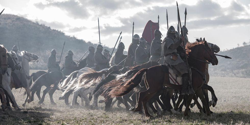 Caballeros castellanos batalla de Graus El Cid Amazon