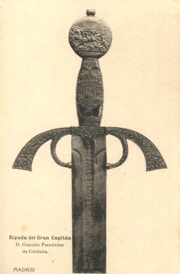 La espada de Gonzalo Fernández de Córdoba, el Gran Capitán