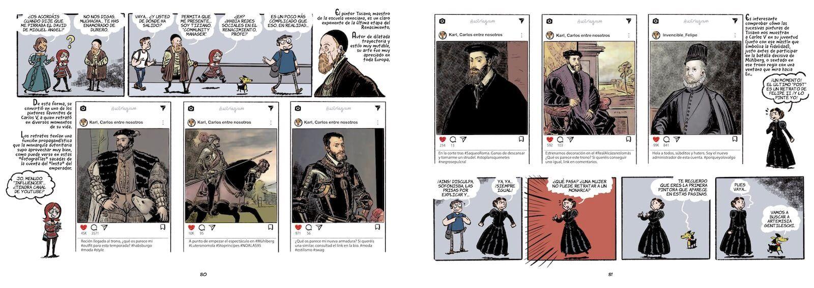 Historia del Arte en cómic el Renacimiento Carlos V