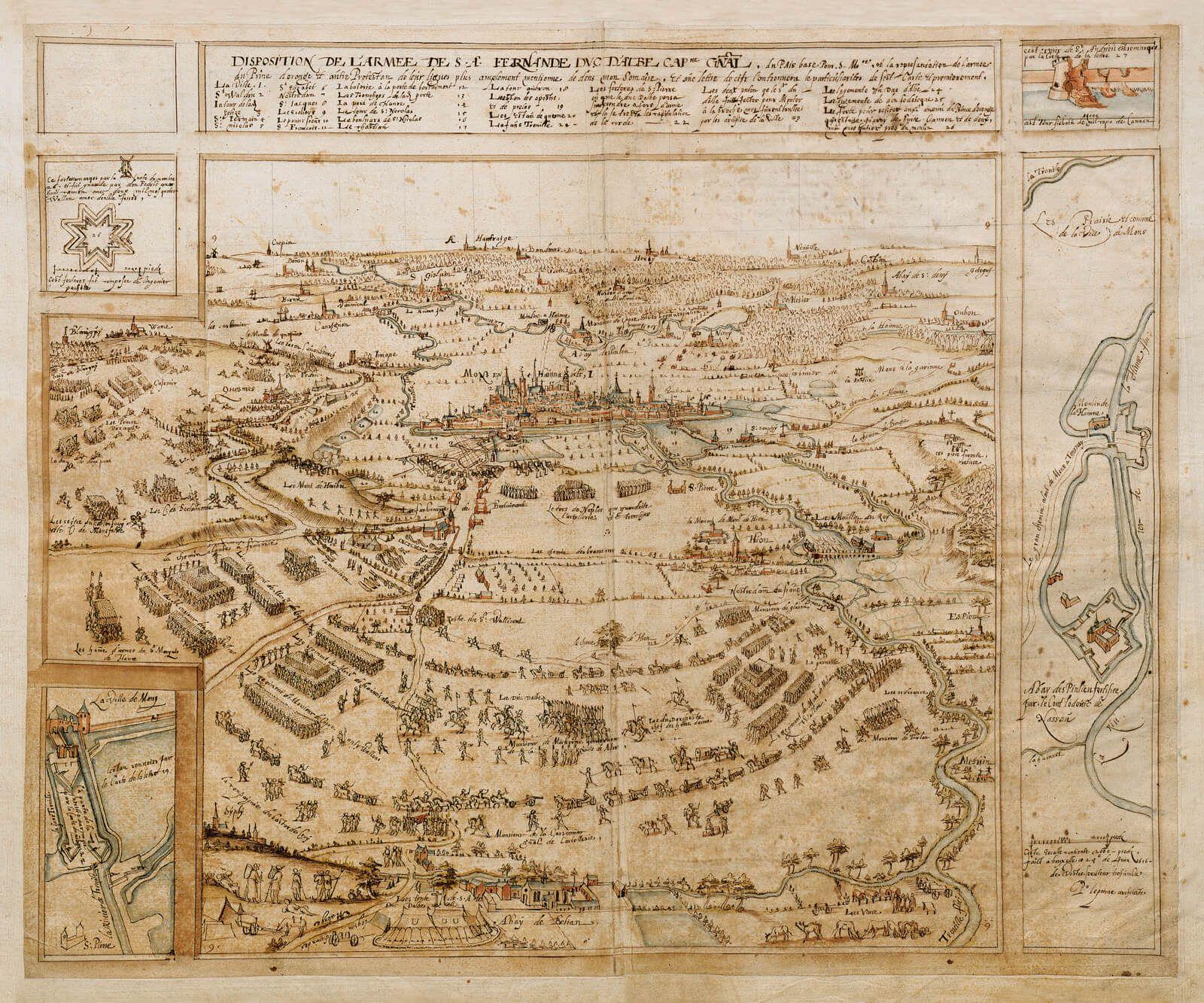 Pierre Lepoivre asedio de Mons fortificaciones guerra de flandes