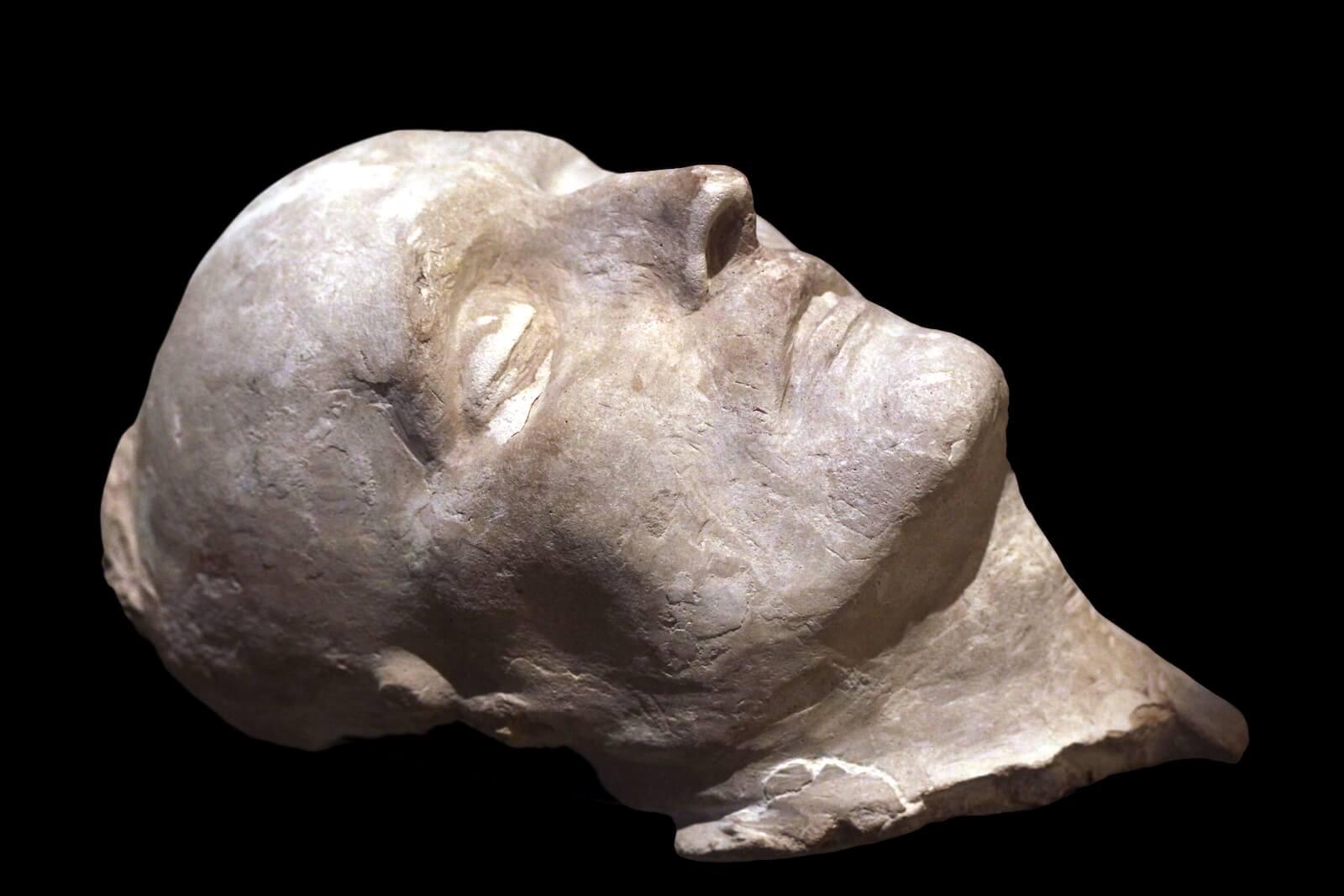 Máscara mortuoria muerte de Napoleón