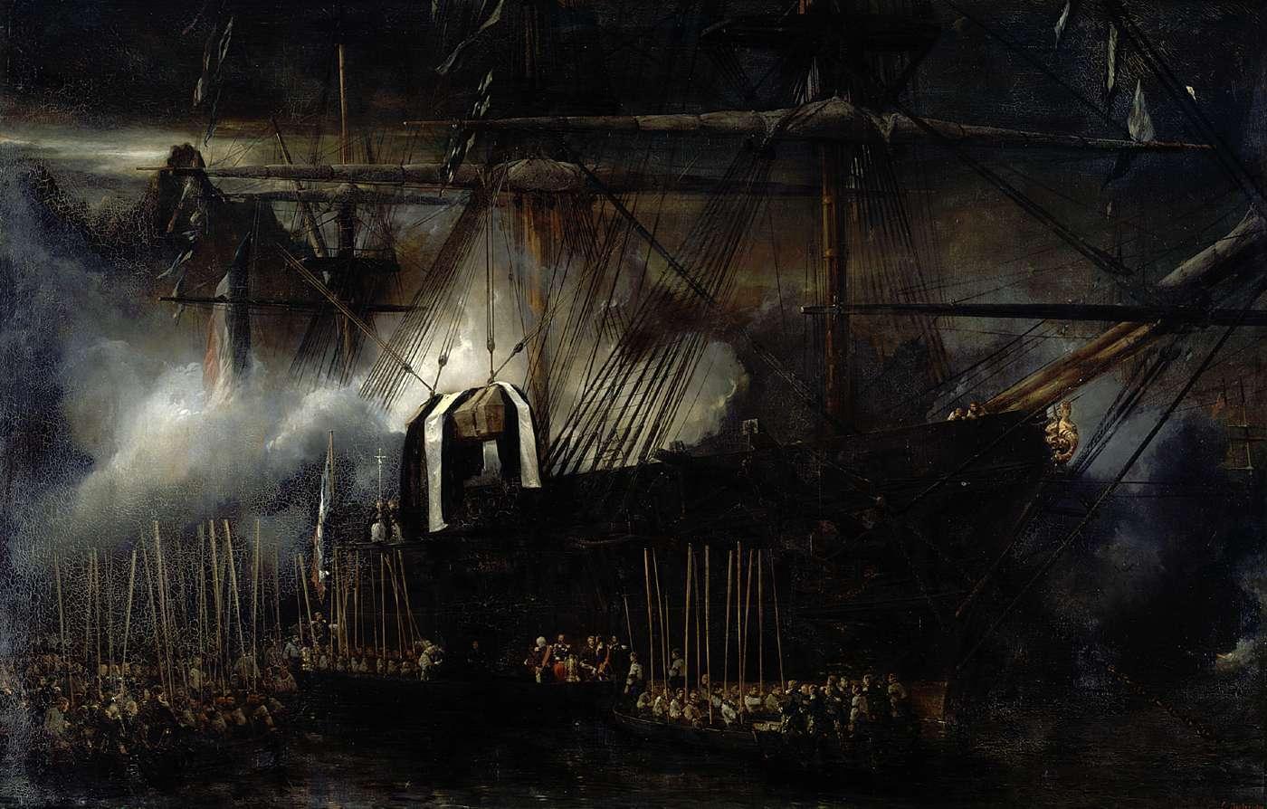 Repatriación de las cenizas de Napoleón a bordo de la Belle Poule