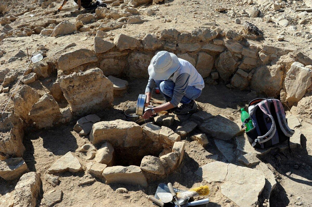 Recogida de muestras en Nahal Efe