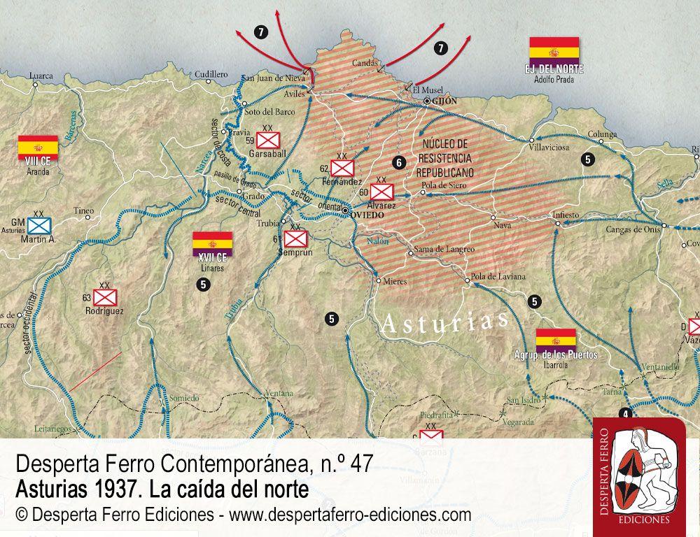 La última campaña en el norte por Javier Rodríguez Muñoz Asturias 1937
